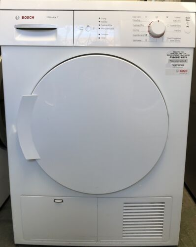 BOSCH CLASSIX-7 7KG CONDENSER TUMBLE DRYER MOD No WTE84106GB, IN WORKING ORDER