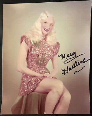 Limited Edition-MARY HARTLINE PHOTO, Pink Sequin Costume, Personal Autograph