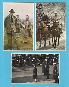 ROYALTY  -  PRESCOTT PICKUP  - 3  BRITISH  ROYAL  FAMILY  POSTCARDS  (Q)  - 1983