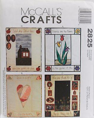 McCalls Pattern #2825 Crafts Wall Quilts Friendship Love Halloween School