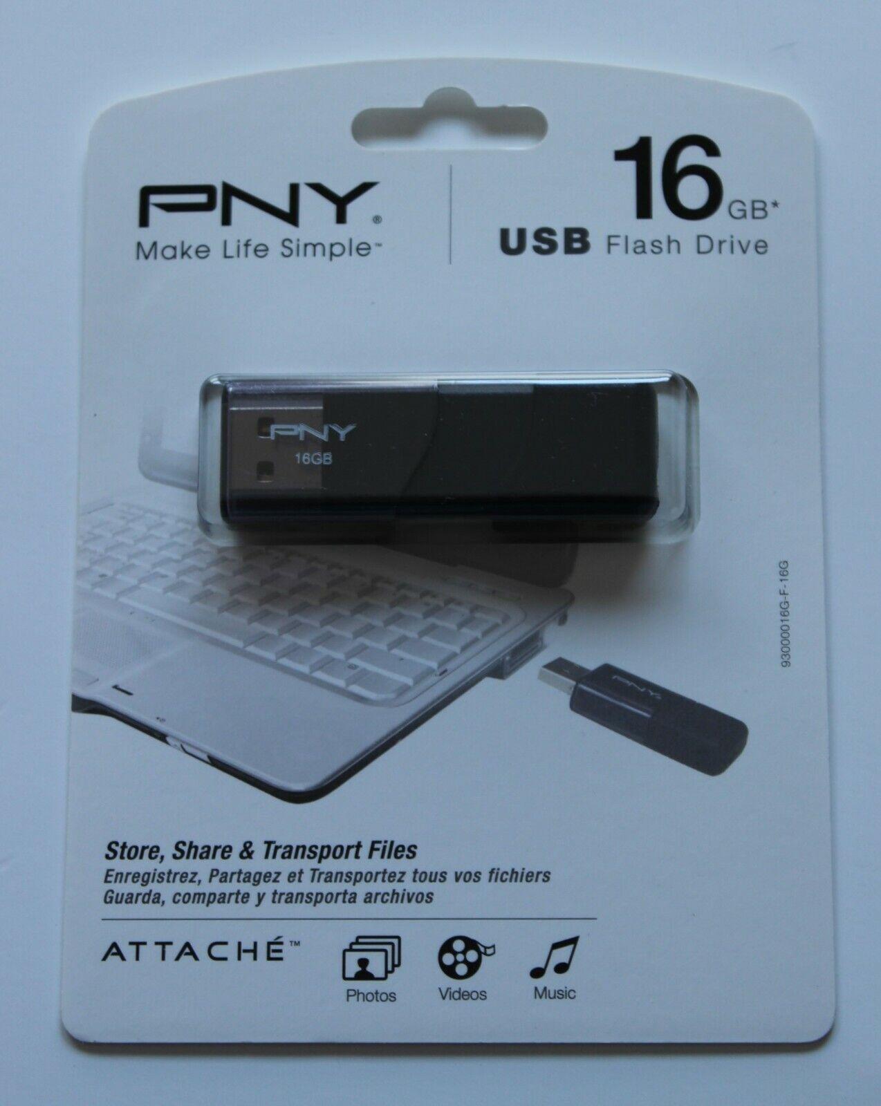 PNY Attaché 16GB USB Flash Drive Memory Thumb Stick Storage