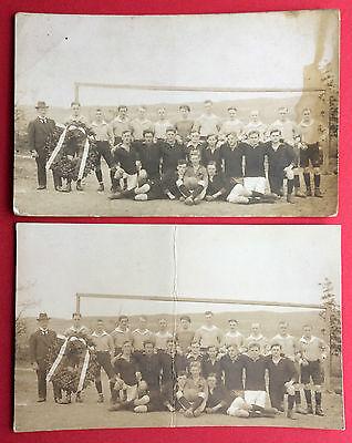 2 x Sport Foto AK um 1920 FUSSBALL Mannschaft   ( 14653