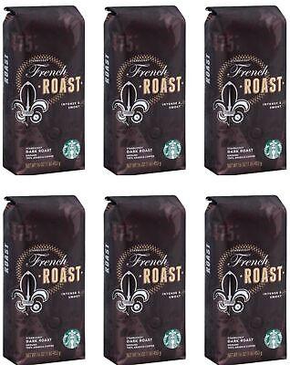 Starbucks (6-Pack) French Roast Ground 1lb Dark Roast Coffee Bags 10/24/2020