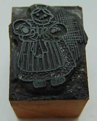 Printing Letterpress Printers Block Woman Holding 2 Crying Babys