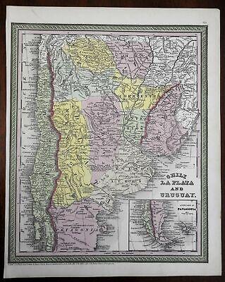 Chile Argentine Republic Rio de la Plata Buenos Aires 1850 Cowperthwait map