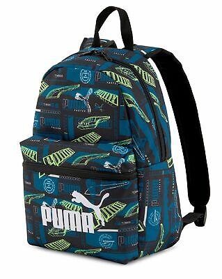 PUMA Phase Small Backpack Rucksack Tasche Digi - blue-Boys AOP Blau Grün...