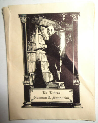 Norman J Sondheim Ex Libris Bookplate