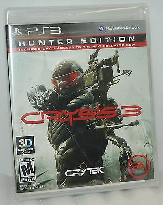 SEALED NEW PlayStation 3 Crysis 3 Hunter Edition Video Game PS3 - 3D Play Action