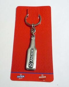 ANCHOR-BEER-Metal-KeyChain-BOTTLE-Key-Ring-MALAYSIA-Collect-Rare-MINT