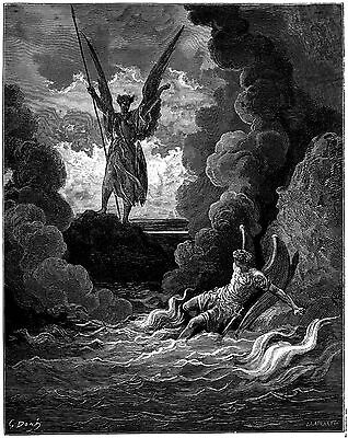 SATAN AND BEELZEBUB, Gustave Dore, Paradise Lost, 1870
