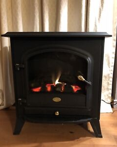 Black Electric Fireplace with  Heat!