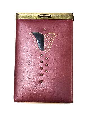 Vintage PRINCESS GARDNER Leather Cigarette Case With Locking Flip Top Lid
