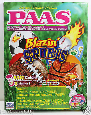 Easy Kids Halloween Decorations (PAAS® BLAZIN SPORTS EGG DECORATING KIT EASY CHILD SAFE COLORING WITH)