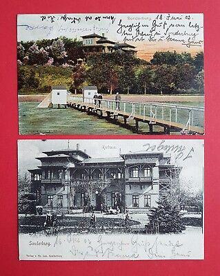 2 x AK SONDERBURG 1903 Steg und Kurhaus   ( 23456