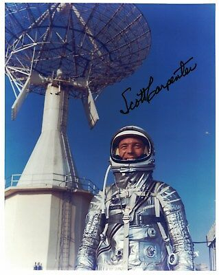 SALE!!  Scott Carpenter Mercury Astronaut Signed Photo