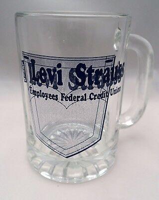 Levi Strauss Employee Credit Union Glass Advertising Glass 10 oz.