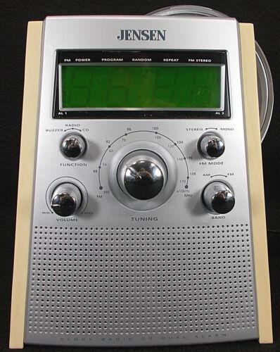 Jensen Alarm Clock Radio AM/FM CD Player Dual Alarm JCR-560