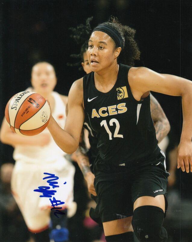 NIA COFFEY signed (LAS VEGAS ACES) WNBA basketball *NORTHWESTERN* 8X10 W/COA #1