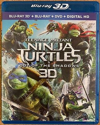 TEENAGE MUTANT NINJA TURTLES OUT OF THE SHADOWS BLU RAY 1 DISC ONLY FREE SHIPPIN (Ninja Turtles Out Of The Shadows)