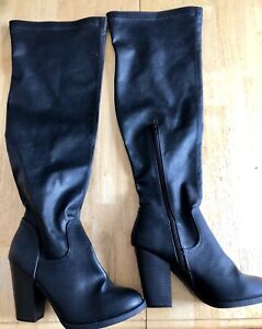 Over the knee boots, size 8, fit like a 9