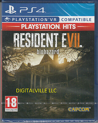 Resident Evil 7 Biohazard PS4 VR Compatible Sony PlayStation 4 Brand New Sealed