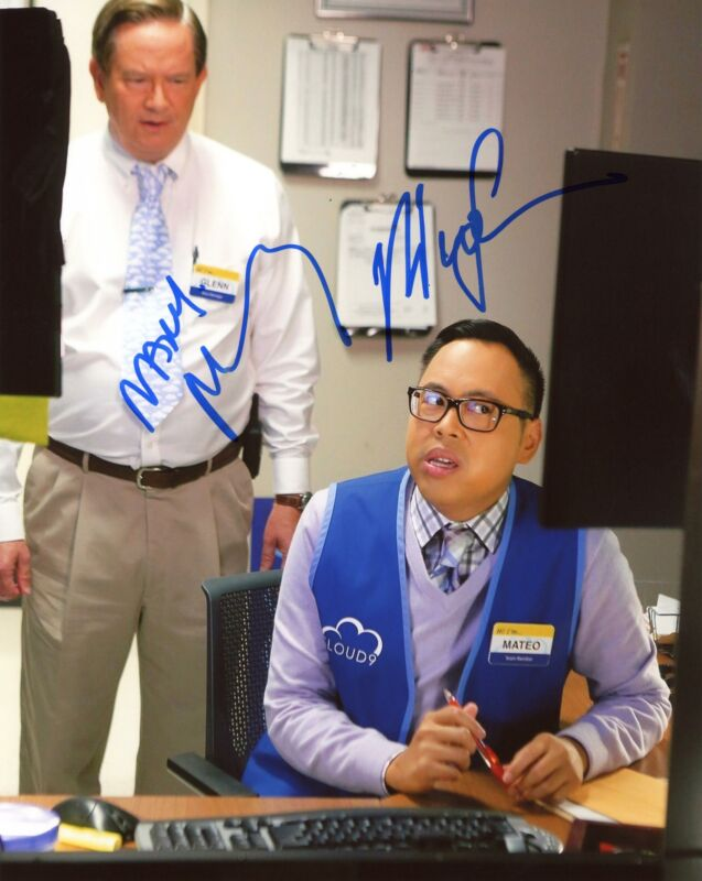 "Nico Santos & Mark McKinney ""Superstore"" AUTOGRAPHS Signed 8x10 Photo ACOA"