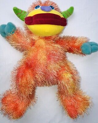 "Monkey Teddy Bear (A Big Adventure Teddy Bear Co. Monkey 14"" Plush Orange Pastel Multicolor)"