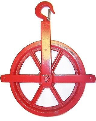 12 Gin Block Manila Rope Pulley Painters Pulley Fitted With Ball Bearing