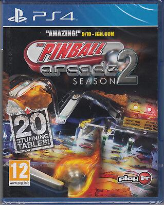 The Pinball Arcade Season 2 PS4 Sony PlayStation 4 Brand New Factory Sealed
