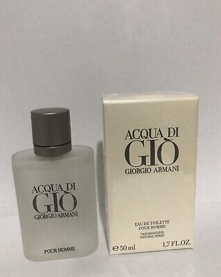 Acqua Di Gio 1.7 oz 50 ml Eau de Toilette Spray New sealed Box . Free Shipping.