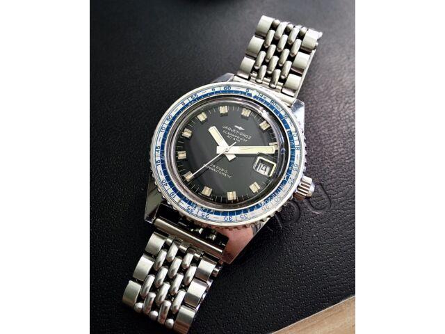 Jaquet Droz ( Jenny Caribbean )  Skin Vintage Diver 40 mm Steel  ! Rare !