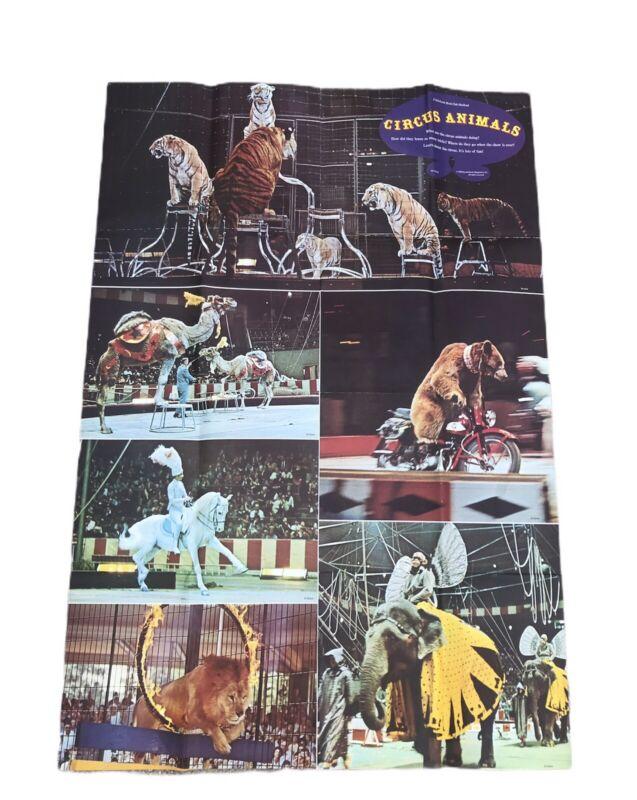 Circus Animals Scholastic Book Club Poster Vintage