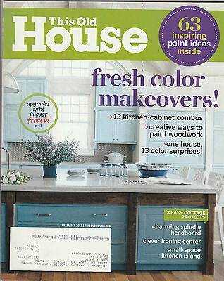 This Old House Magazine September 2013 Back Issue Free Shipping