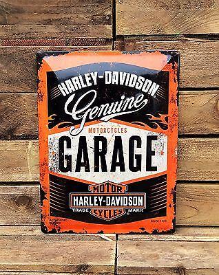 Harley Davidson Garage sign - Metal Pressed Sign - official licensed product
