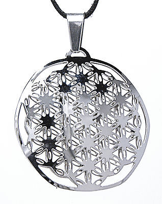 Flower Of Life Pendant Stainless Steel Harmony Kosmos Energy Nr104