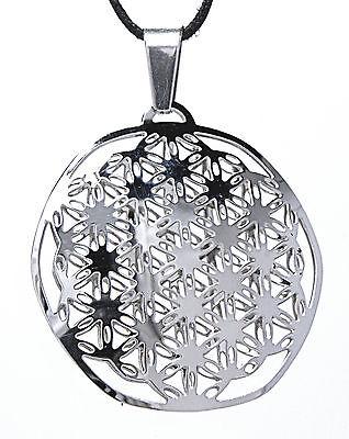 104 Flower Of Life Pendant Stainless Steel Flower Of Life Harmony Kosmos Energy