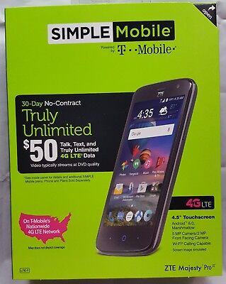 Simple Mobile ZTE Majesty Pro LTE Z798 Smartphone 8GB Best Seller Fast Free