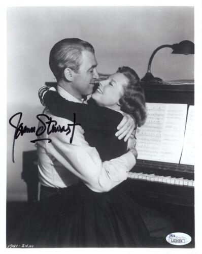 JAMES STEWART AUTOGRAPHED 8x10 PHOTO       GREAT POSE WITH JUNE ALLYSON      JSA