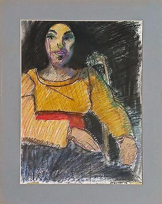 "Michael Steiner ""Woman Series #2"", Pastel & Charcoal, 23""h x 17.5""w image"