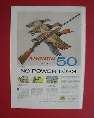 1956 Winchester Model 50 Rifle / Lee Flight Sweep Hats Color AD