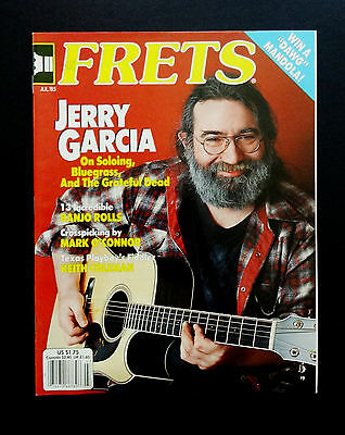 Jerry Garcia Acoustic Guitars (Grateful Dead Jerry Garcia Frets Magazine 1985 July Garcia Kahn Acoustic Guitar )