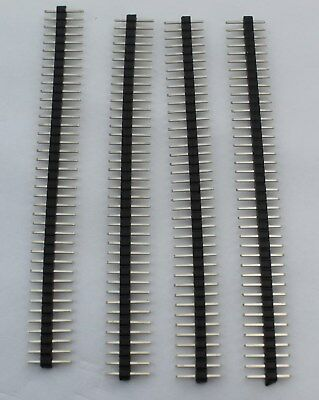 4pcs 1x40 40 Pin Male Header 2.0 Mm Pitch Usa Comb Ship
