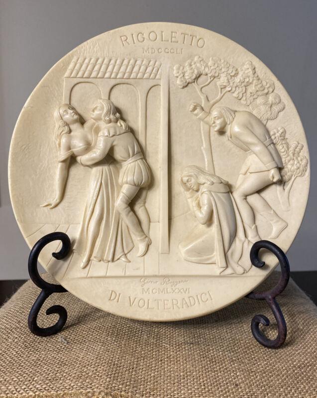 """STUDIO Dante di Volteradici """"Rigoletto"""" Ivory Alabaster Plate by Gino Ruggeri"""