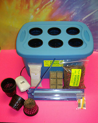 6 SITE HYDROPONIC GROW BOX SYSTEM KIT ...