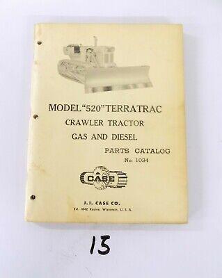 Case Model 520 Terratrac Crawler Tractors Gas And Diesel Parts Catalog