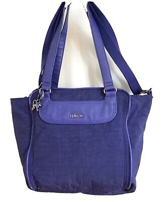 Lovely XL Tote / Shoulder Bag By Kipling With Metal Monkey Keyring