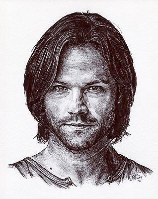 Supernatural  Sam Winchester   Jared Padalecki   Ink  Drawing