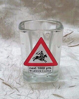 Warwick Castle Square Shot Glass Next 1000 Years Warwickshire England