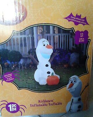 5' Tall Airblown Inflatable Olaf Halloween decor,  - Olaf Inflatable Halloween