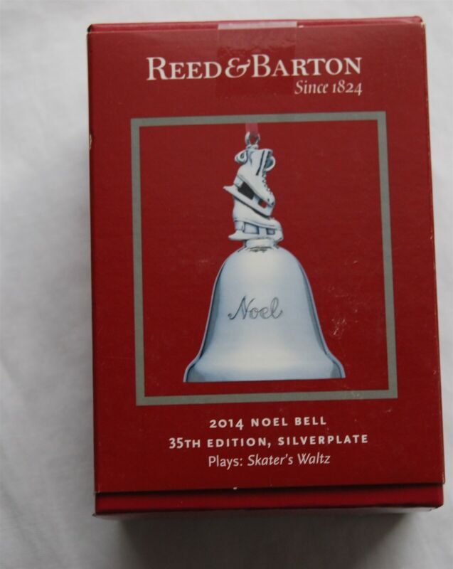 Reed & Barton 2014 NOEL Musical Bell Plays Skaters Waltz 35th Edition
